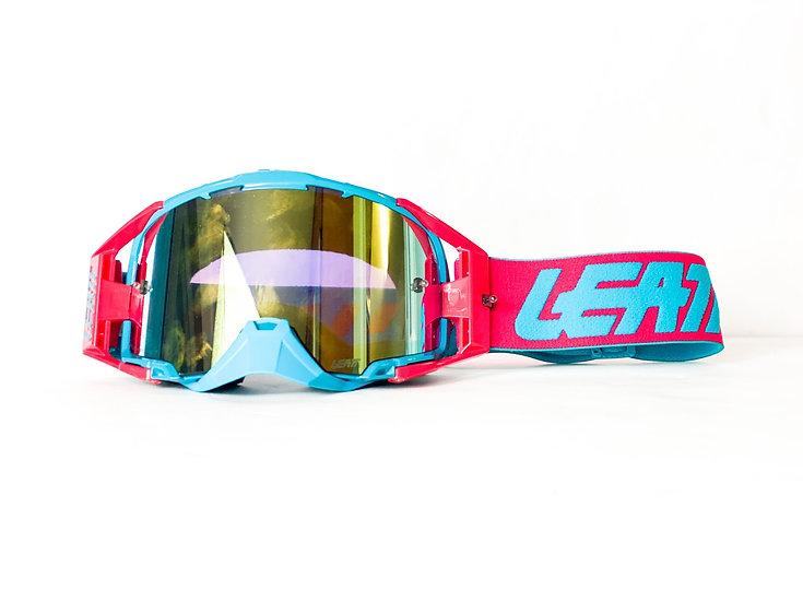 Leatt Velocity 6.5 pink/cyan with gold lense