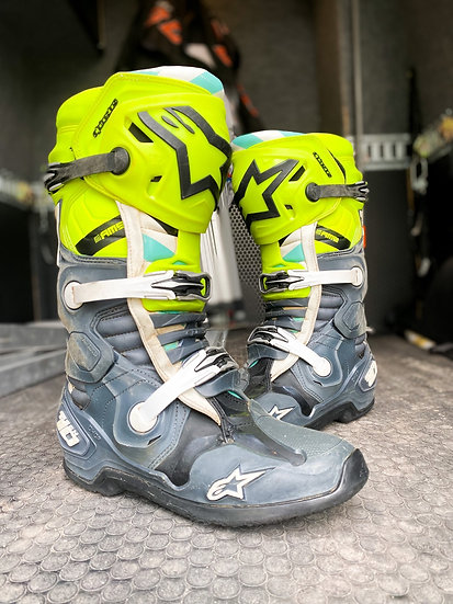 """Alpinestars Tech 10 Racer Unreleased Athlete Only """"A1"""" Boots Size 9"""