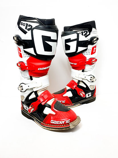 Gaerne SG12 red/black/white boots Size 7