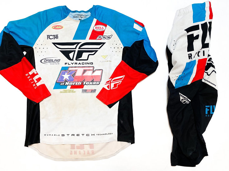 Fly Evolution red/blue/white gear combo (30/M)