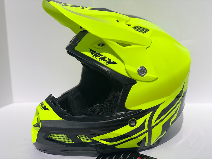 FLY RACING - F2 CARBON MIPS SHIELD HELMET Green/black *BRAND NEW* (Size Medium)