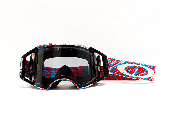 Oakley Airbrake red/blue