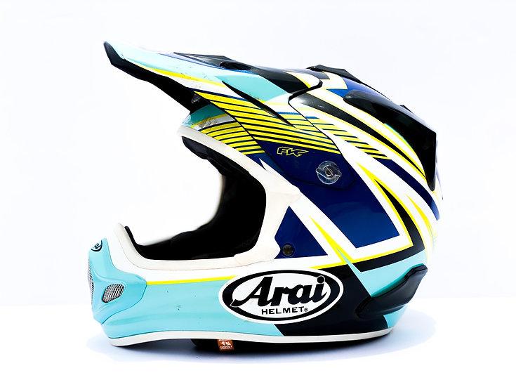 Arai VX-Pro4 teal/yellow Strike helmet Size Small