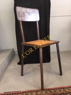 Chaise métal_bois