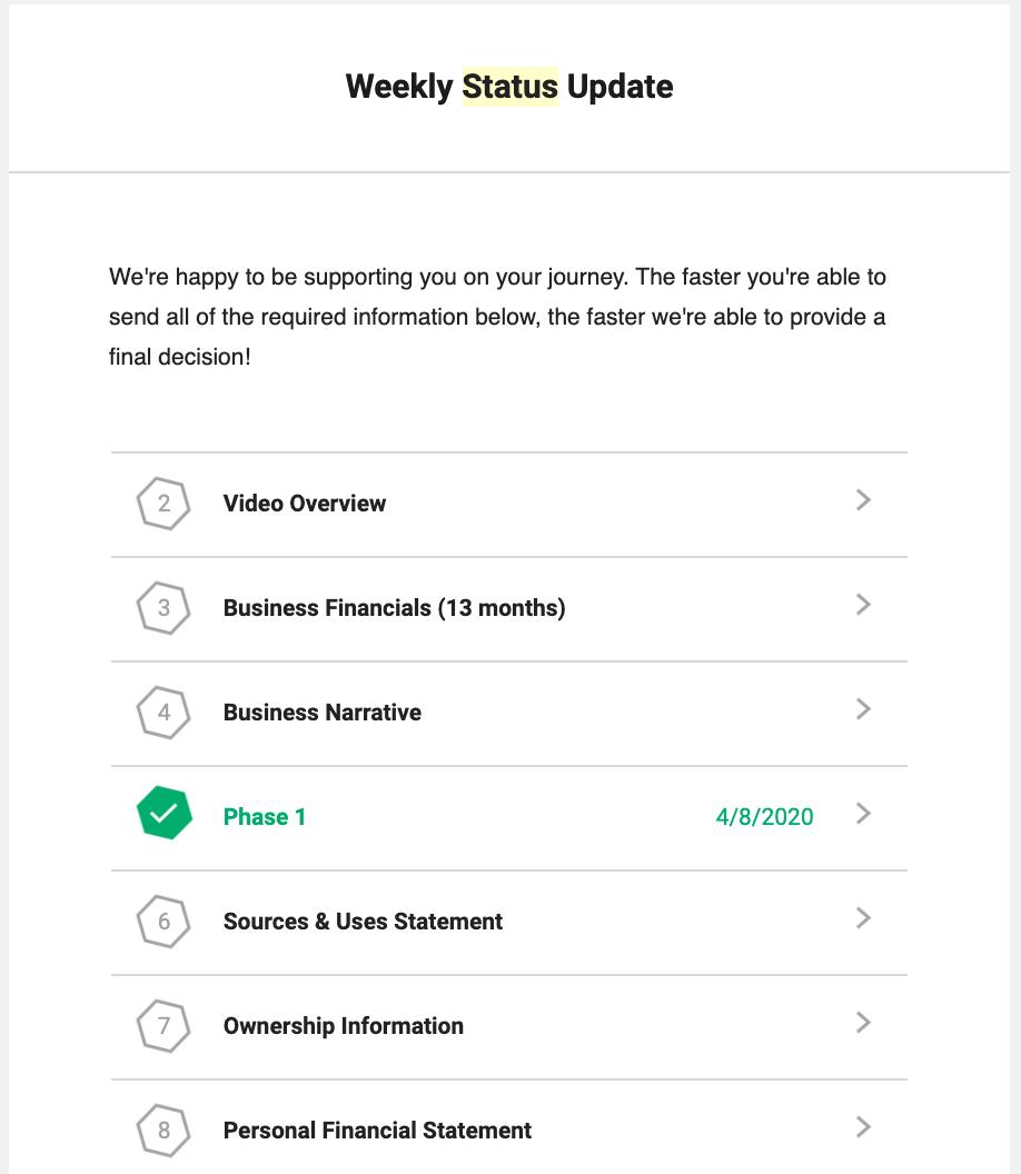 Weekly Status Updates