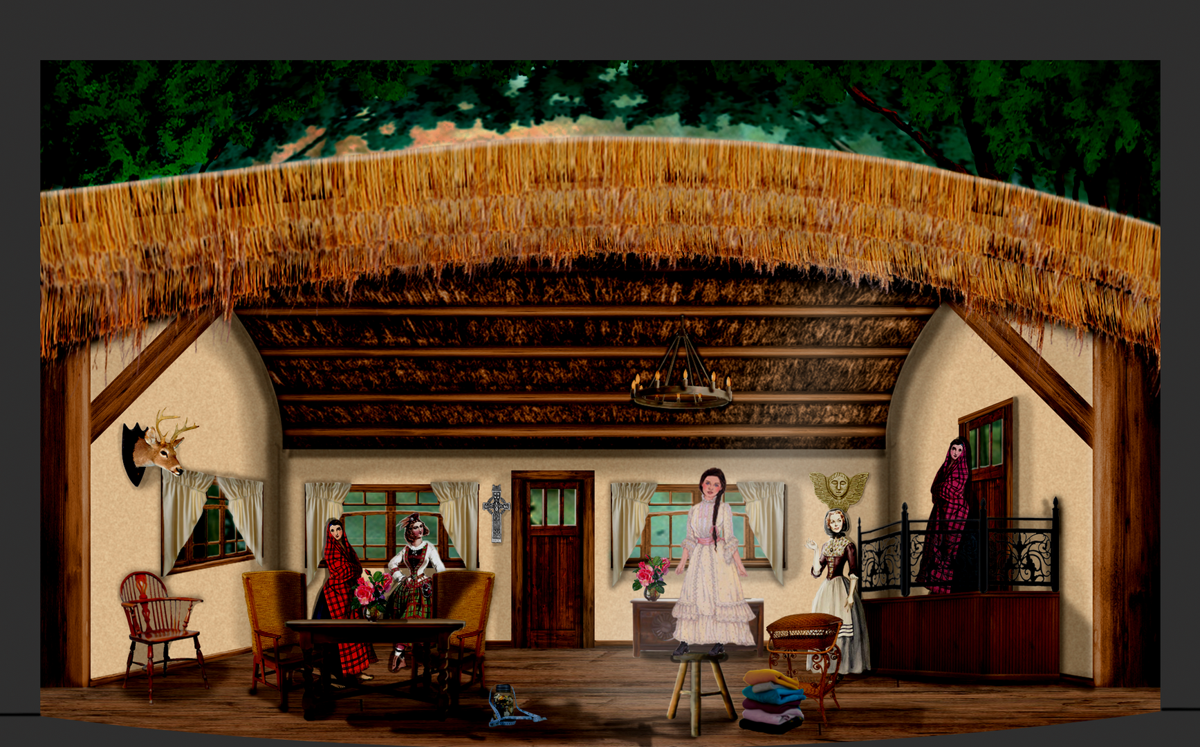 Jeanie's Packing Up, Brigadoon Photoshop Rendering