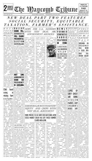 1930s Newspaper