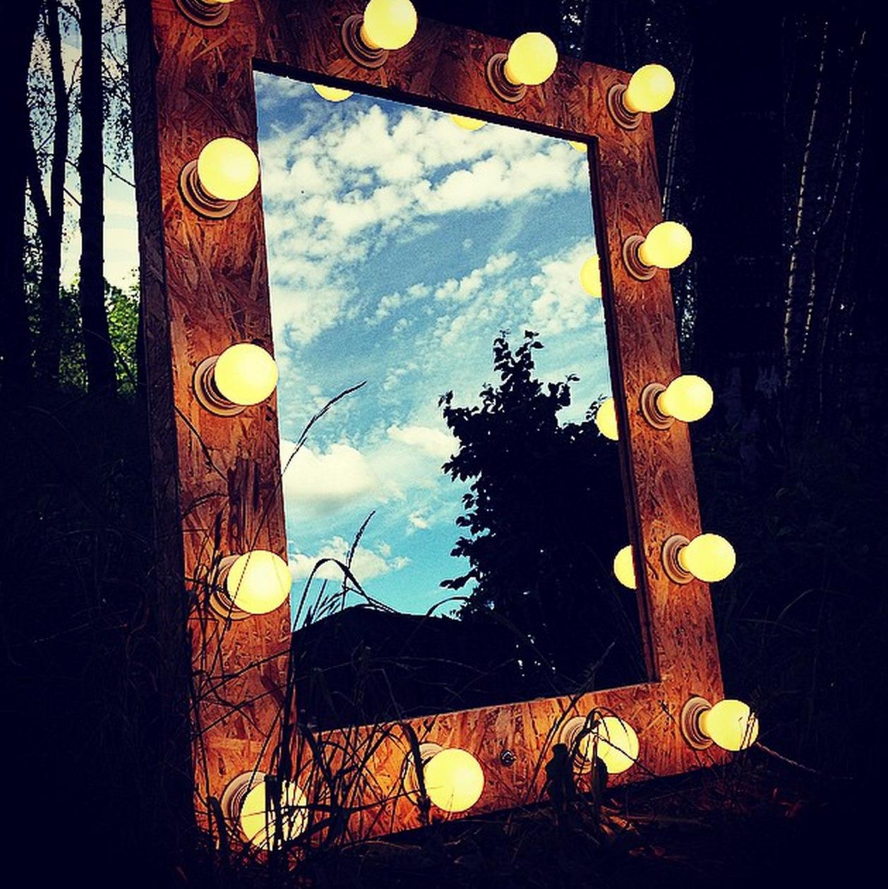 Гримерное зеркало, осб панель