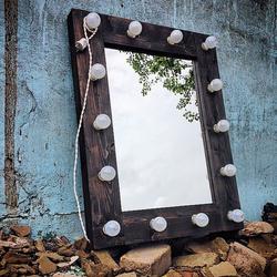 Гримерное зеркало, массив сосны