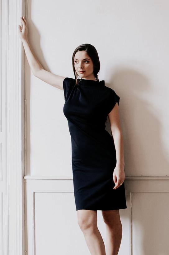Robe T, robe en maille créateur Delphine Josse, boutique de robe  à Toulouse.