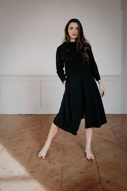 Ensemble KENNEDY PIA,  pull et jupe chic et confortable, créateur Delphine Josse, boutique de robe  à Toulouse.
