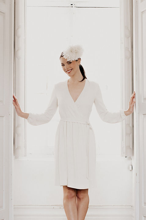 Robe mariage civil, made in france, Créateur, Delphine Josse
