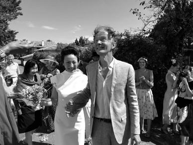 Robe de mariée T, simple et élégante. Mariage civil. Mariée moderne. Boutique mariage à Toulouse. Robe de mariée créateur Toulouse.