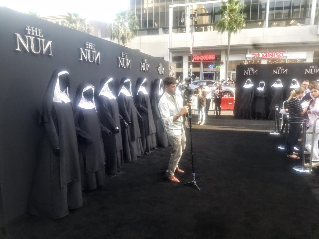"""The Nun """"Black"""" Carpet Premiere Cast"""