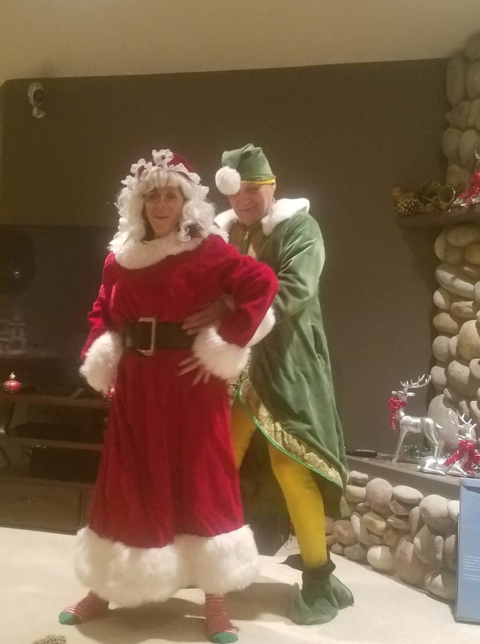 Elf and Mrs. Claus