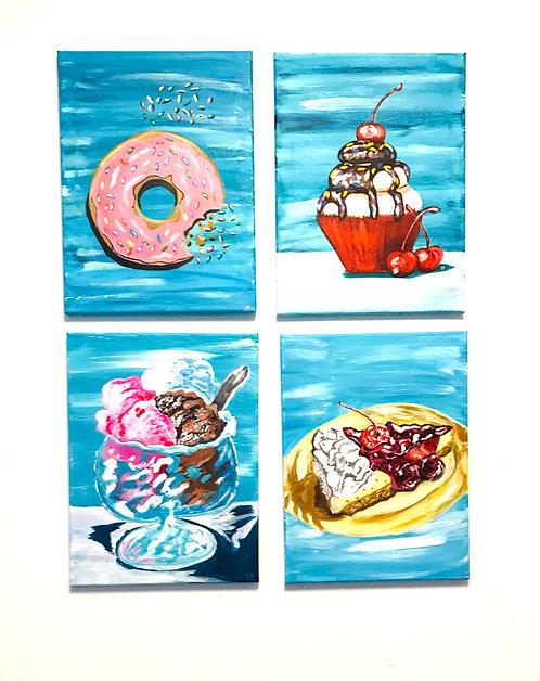 """Summer Desserts  - 11"""" x 14"""""""