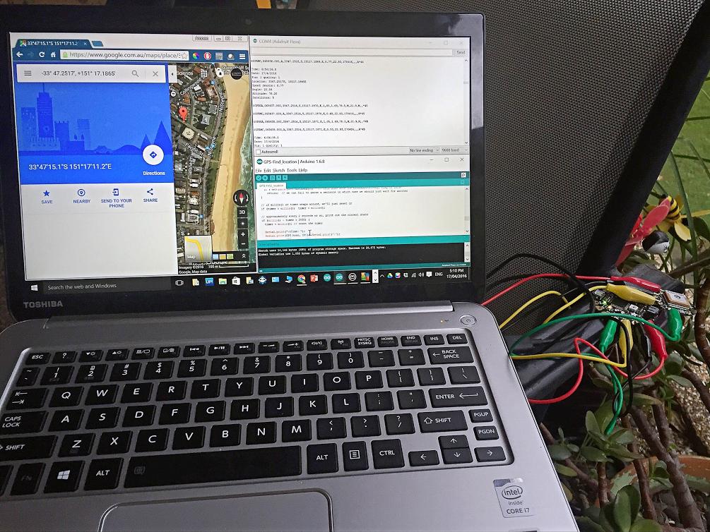 Testing the Arduino GPS