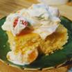 sugar free cake wiith SF fruit dip topping