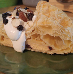 Sugar Free cheese and blueberry puff pastry