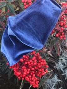 Gray-blue velvet mask