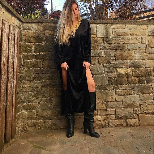 """""""Lilith"""" velvet kaftan dress"""