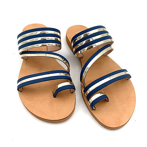 """Dalida"" sandals blue-gold"