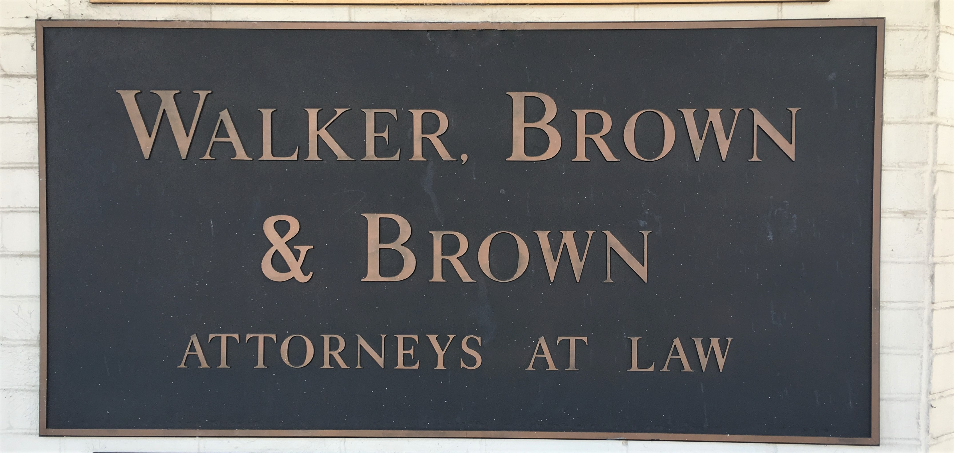Walker, Brown & Brown