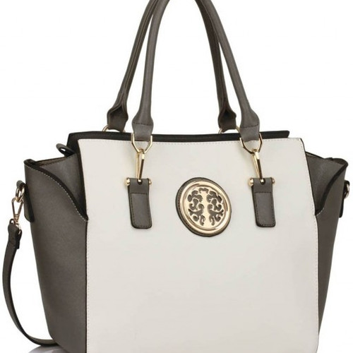 2bc95a1231 CWS00353 GREY WHITE WOMEN S NICE SHOULDER BAGS HANDBAGS LADIES DESIGNER  TOTE BAG
