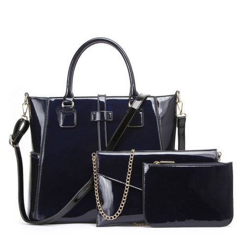 e087be9505 LW112-NAVY BOLAR LEAHWARD LARGE 3 IN 1 BAGS FOR WOMEN FASHION WOMEN S TOTE  BAG S