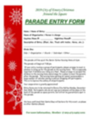 Corrected Christmas Parade Registration