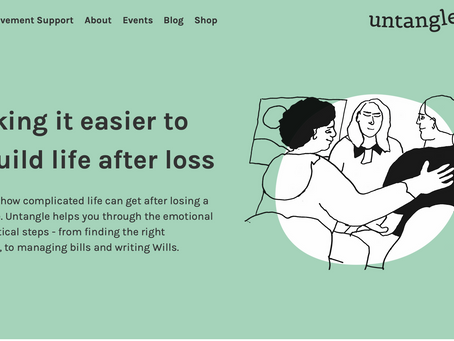 How Untangle have tackled the taboo topics of death and divorce.