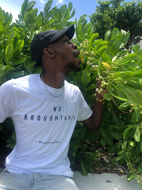 no broughtupcy tee