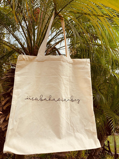 Hand Embroidered Canvas Tote