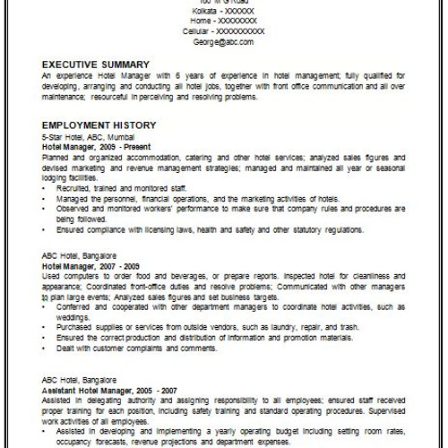 executive resume with cover letter - Federal Resume Cover Letter