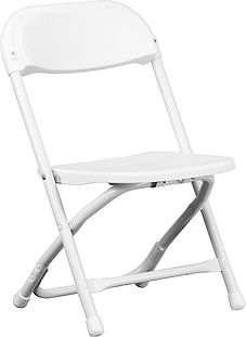 Kid's White Metal Festival Chair.jpg