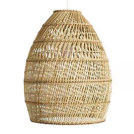 Basketweave Bamboo Pendant