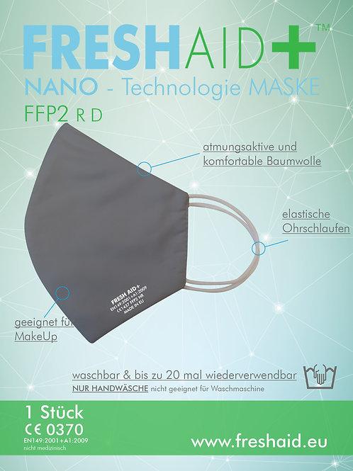 Fresh Aid+ FFP2 Soft Nano-Mask grau