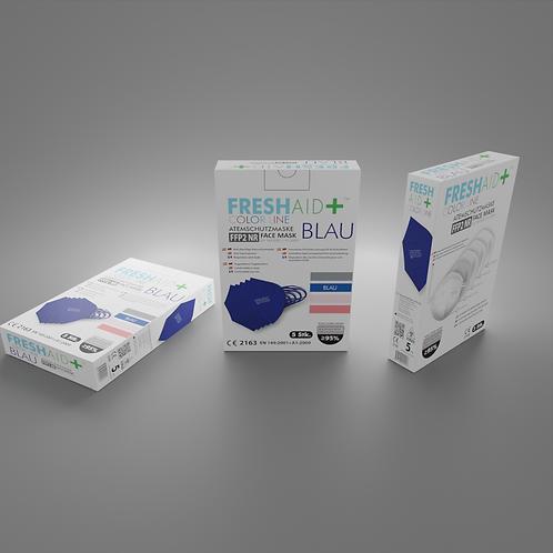 FreshAid+ FFP2 Masken blau - 5er Pack
