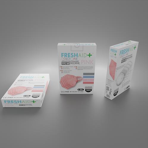 FreshAid+ FFP2 Masken pink - 5er Pack