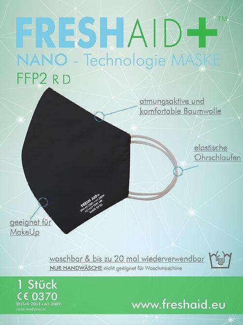 Fresh Aid+ FFP2 Soft Nano-Mask schwarz