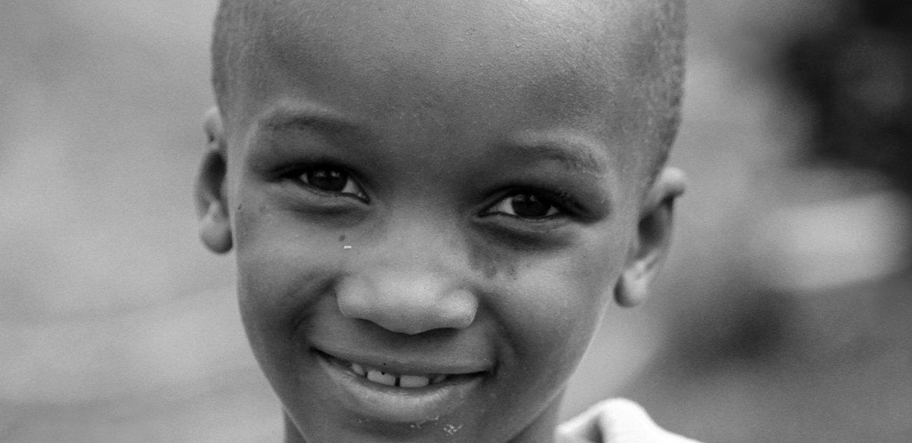 ルワンダの子供を笑顔