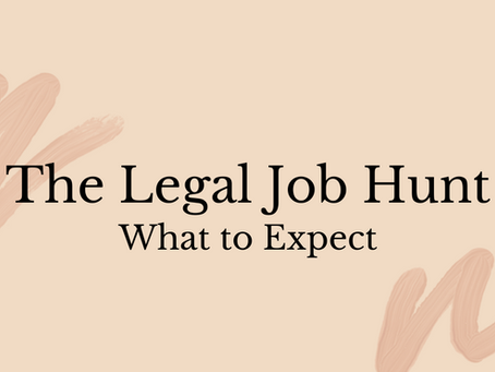 the legal job hunt: what to expect