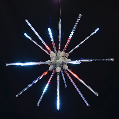 """LED 24"""" ANIMATED STARBURST (RED/WHITE)"""