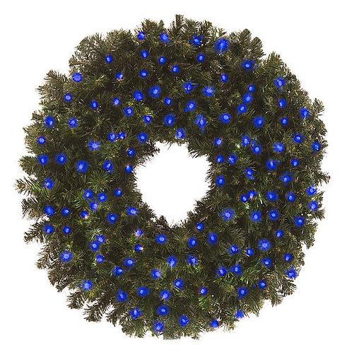 """LED 48"""" WREATH CONCAVE (BLUE)"""