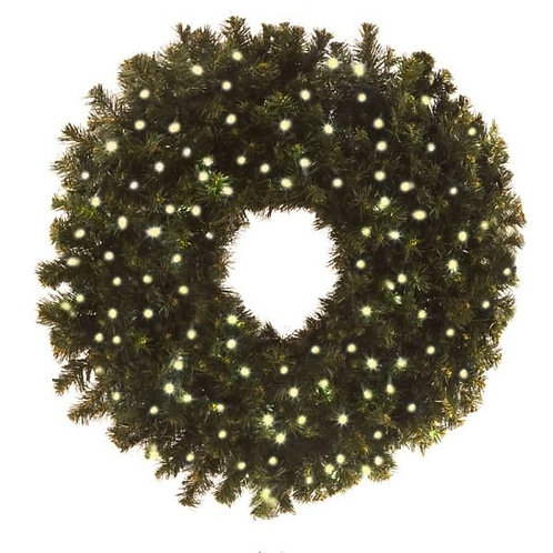 "LED 36"" WREATH CONCAVE (WARM WHITE)"