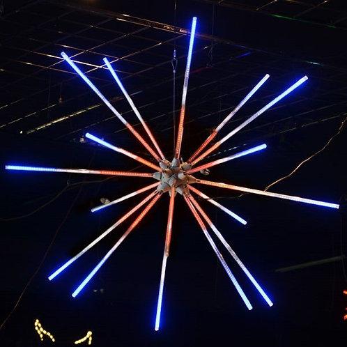 """LED 24"""" ANIMATED STARBURST SAME STEP (RED/WHITE/BLUE)"""