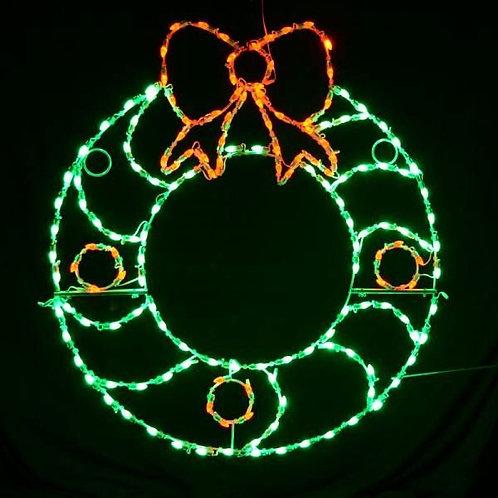 LED C7 WREATH W/ BERRIES