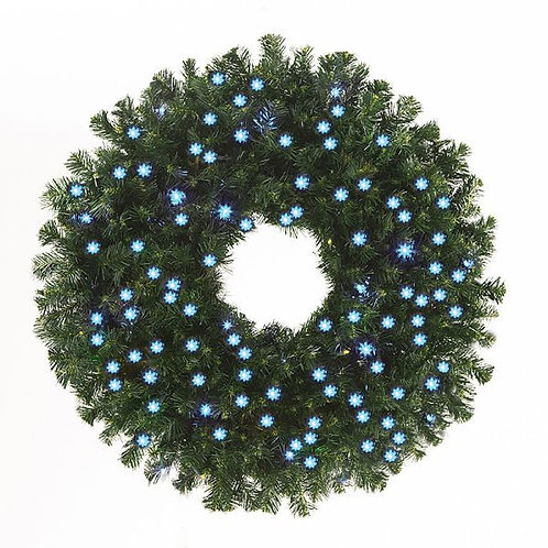 "LED 36"" WREATH CONCAVE (ICE BLUE)"