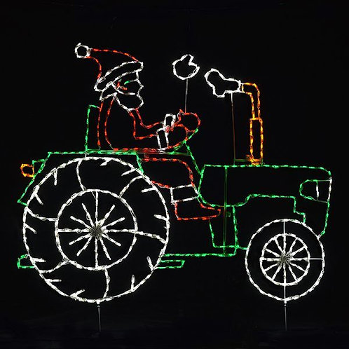 ANIMATED SANTA ON TRACTOR