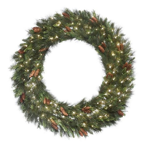 """LED 48"""" MIXED NOBLE WREATH CONCAVE (WHITE)"""